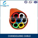 HDPE 12*5/3.5mm Plastic Tube Bundle Round thicker armored direct buried micro duct price