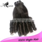Natural black color human hair weaves marley braid hair