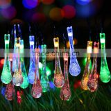 Wholesale Christmas Pajamas Colorful Solar Powered Atmosphere Christmas Decorating Dropwater Led Lights