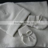 new-born baby's cashmere covers blankets,hat and gloves