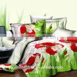 Wholesales Printing 3D bedding set double brushed microfiber duvet set in Twin Full Queen King Size