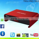 Pendoo T95U Pro S912 2g 16g TV Box with bluetooth keyboard mouse android KODI 17.0 tv box
