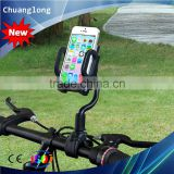 Non-slip Design 360 Degree Rotating Long Neck Smart Phone Bike Mobile Holder