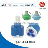 40mm single level seal ceramic disc cartridge water mixer tap inner