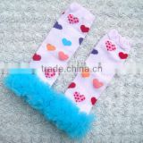 Smart printed kids legwarmers leg warmers children legwarmers with ruffles