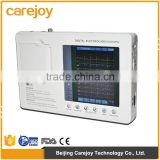 2016 CE Hospital Clinic Medical Device Use 7-inch Color Three-channel Electrocardiograph ECG Machine EKG Machine portable