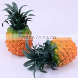 Decorative wholesale artificial fruit fake pineapple /Custom styrofoam fake pineapple for home deco