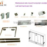 Horizontal Wooden Murphy Wall Bed Mechanism Hardware Kits