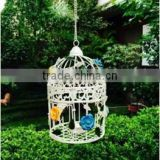 Cage T-Light Holder With Hanging Chain In Ivory