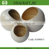 Spun bamboo flower vase set of 3
