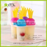 SSet of 4 pcs Ice cream mold plastic ice lolly mould ice tray maker