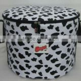 Printed Barrel Cooler Bag Heavy Duty Insulated Ice Bag Round Lunch Bag
