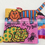 Soft Safety Kitty Tails Cloth Book Infant Educational Early Unfolding Developmental Baby Toy