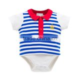 2016 Fashion Long Sleeve White Color Baby Boy Bodysuit Gentlemen Style With Fake Vest Baby Clothing Baby Garment