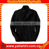 Fashion breathable high quality black multiple pockets mix size polyester custom design track jackets