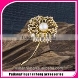 Fashion natural pearl inlay zircon shawl brooch buckle