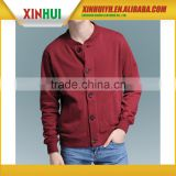 men's high quality factory price bulk button up sweatshirt /hoody