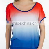 2014 tie dye t-shirts wholesale from india OEM short sleeve black white blue coral tie dye shirt
