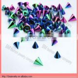 316l stainless steel body piercing jewelry balls cone accessries cheap wholesale titanium andoized popular