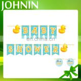 Johnin popular decorative colored custom all shape baby shower banner