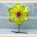 plastic toy windmills stick for kids, sunflower windmill toy