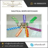 Creative Design Well Crafted Rope Keychain Available from Leading Indian Manufacturer