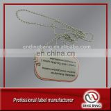 OEM Wholesale Fast Delivery Promotion Cheap Item Ball Chain Attached Double Clear Domed Printed Custom Dog Tag