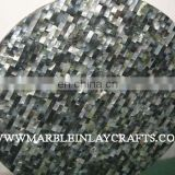 Grey Mother Of Pearl Round Table Top