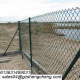High quality perimeter of factory and warehouse black chain link fence