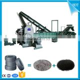 High Productivity Used tyres rubber powder product making line_Waste tire recycling machine