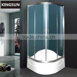 Aluminium Frame Material and Sector Tray Shape Freestanding Glass Indoor Shower Enclosures Shower Rooms