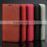 2015 New Design for Samsung Galaxy S6 Genuine Leather Case With Card Holder Slot, Alibaba China