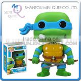 Mini Qute Funko Pop Amine Ninja Turtle Leonardo super hero action figures cartoon models educational toy NO.FP 63