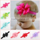 Wholesale hot selling fabric tape finish tail bow baby hair accessories hairband kids headband MY-AC0021