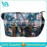 Flower Pattern Oilcloth Bags Long Shoulder Strap Fancy Ladies' Waterproof Bag Shoulder Bag