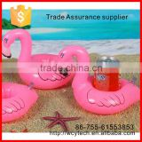 Best PVC Inflatable beach Drink holder beverage Holder floating flamingo inflatable cup holder