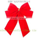 Christmas Tree Ormament with Red Velvet Ribbon Bow, Satin Butterfly Tie                                                                         Quality Choice