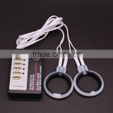 ES0003 Electric Shock 2pcs Silicone Penis Rings, Cock Ring Medical Themed Sex Toy Kit, Electro Stimulation For Male Sex Products