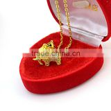Wholesale indonesian market elephant stainless steel gold jewellery pendant necklaces                                                                                                         Supplier's Choice
