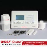 YL-007M2BX GSM alarm system with LCD display and touch keypad home guard gsm sms alarm system