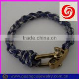 fashion 2 color gold adjustable shackle different types of paracord bracelets                                                                         Quality Choice