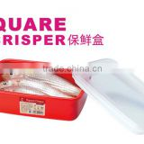 D571 M Square food storage plastic food storage container fresh box with eco-friendly material