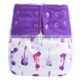 Reusable Cute baby Fashion Cloth nappies Bulk low MOQ Baby nappy