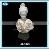 design famous carved marble female busts sculpture
