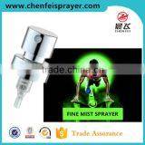 Custom full silver aluminium type fine mist sprayer discharge rate perfume nozzle sprayer mist sprayer for bottle
