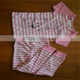 100% cotton suit children/baby pajamas/children