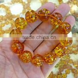 (IGC) Natural Beautiful Amber Beads for sale gemstone