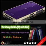 Hot Selling Ultra Thin 0.7mm Metal Aluminum Case Bumper for Sony Xperia Z1 L39h
