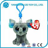 Super soft plush polyester stuffed plush dog key ring