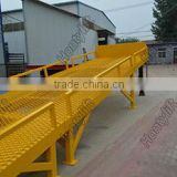 Portable movable model hydraulic yard ramp loading bridge price car ramp